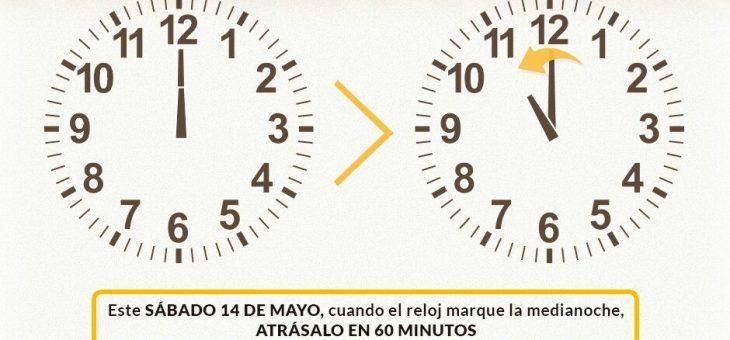 Cambio de hora Chile Mayo 2017