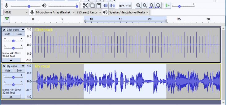 Editar archivo de audio con Audacity